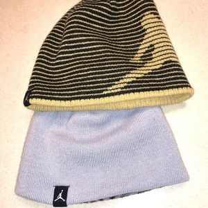 Reversible winter hats for girls. Gold has sheer